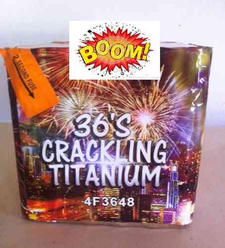 Crack Titanium 36 TIROS 25mm Tiros com cracker